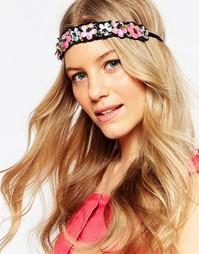 Повязка на голову с цветами и пайетками ASOS - Мульти