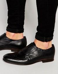 Кожаные монки Hudson London Castleton - Черный