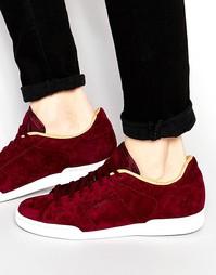 Замшевые кроссовки Reebok NPC II V62770 - Красный