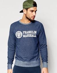 Свитшот с логотипом на груди Franklin and Marshall