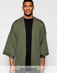Стеганая куртка в стиле карате Reclaimed Vintage - Зеленый