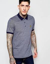 Темно-синяя футболка‑поло с контрастным воротником Lyle & Scott
