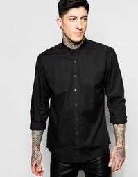 Черная оксфордская рубашка Lindbergh - Черный