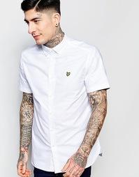 Белая оксфордская рубашка с короткими рукавами Lyle & Scott - Белый