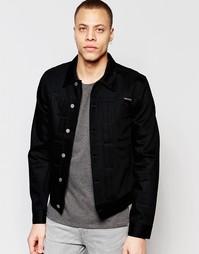 Джинсовая куртка со складками спереди Nudie Jeans Sonny - Сухой черный