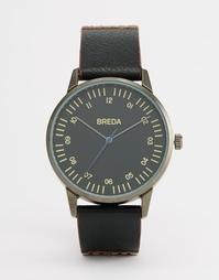 Часы в черно-красной гамме с кожаным ремешком Breda Rothko - Черный