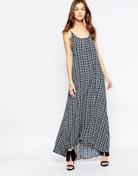 Платье макси с открытой спинкой и принтом Flynn Skye - Eclipse