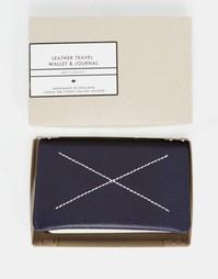 Кожаный дорожный бумажник и блокнот Men's Society - Мульти