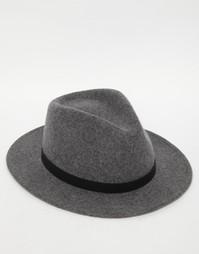 Шляпа Brixton Messer - Серый