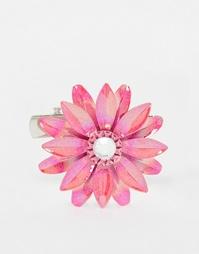 Брошь с цветочным дизайном ASOS - Розовый