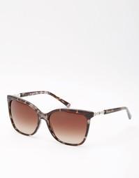 Солнцезащитные очки в квадратной оправе Michael Kors - Черепаховый