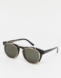 Черные круглые солнцезащитные очки Han Kjobenhavn Timeless - Черный