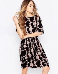Платье-рубашка с принтом Minimum - 999 черный