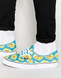 Синие кеды Vans Late Night Pack Authentic Fries V4MKIFB - Синий
