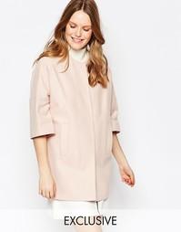 Светло-розовое пальто с широкими рукавами Helene Berman - Розовый