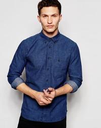 Рубашка классического кроя Nudie Jeans Stanley - Ярко-синий