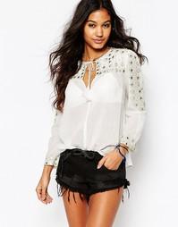Рубашка с зеркальными вставками Star Mela Santi