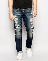 Выбеленные джинсы True Religion Geno Rough City - Rough city
