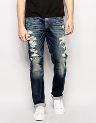 Выбеленные джинсы True Religion Geno Rough City - Rough city