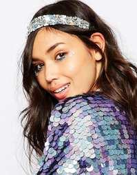 Повязка на голову с дизайном-конфетти в пастельных тонах ASOS - Мульти