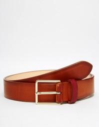 Кожаный ремень Paul Smith - Рыжий