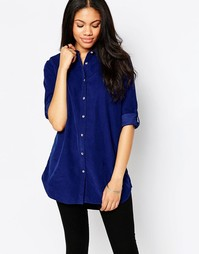 Синяя oversize-рубашка MiH - Синий