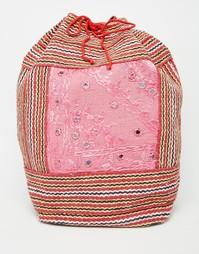 Парусиновый рюкзак с завязкой Raga - Мульти
