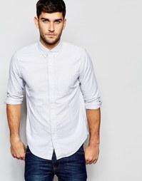 Серая оксфордская рубашка слим в полоску Abercrombie & Fitch
