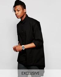 Рубашка-oversize с ассиметричной кромкой Unplugged Museum - Черный