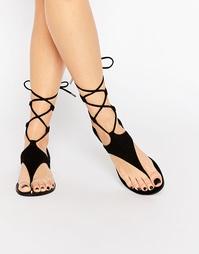 Черные замшевые сандалии со шнуровкой Kendall & Kylie Faris - Черный