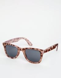 Квадратные солнцезащитные очки с бледным черепаховым принтом ASOS