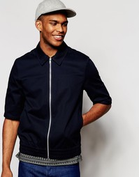 Легкая темно‑синяя куртка Харрингтон с рукавами ASOS - Темно-синий