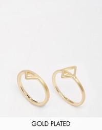 Два позолоченных кольца с треугольниками Pilgrim - Золотой
