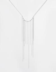 Ожерелье с узелком и кисточкой Cheap Monday - Серебряный