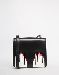 Кожаная сумка через плечо Lulu Guinness Marcie - Черный