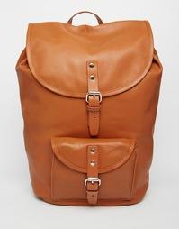 Кожаный рюкзак Sandqvist Helmer - Коричневый