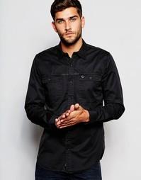 Выбеленная черная рабочая рубашка классического кроя True Religion