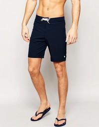 Однотонные пляжные шорты Abercrombie & Fitch - Синий