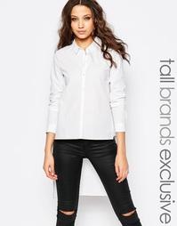 Приталенная рубашка с асимметричной кромкой Y.A.S Tall - Белый