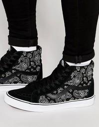 Черные кроссовки Vans Sk8-Hi V3CAI9P - Черный