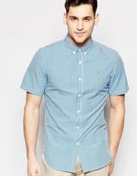 Рубашка в клеточку с короткими рукавами Farah - Синий