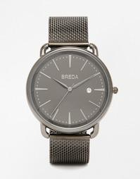 Черные часы из нержавеющей стали Breda Linx - Черный