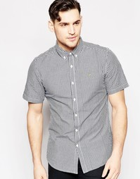 Рубашка в клеточку с короткими рукавами Farah - Темно-синий