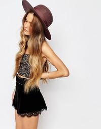Фетровая шляпа с широкими полями и перекрученной лентой Brixton