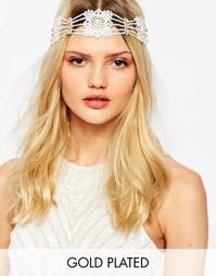 Кружевная повязка на голову с искусственным жемчугом Olivia The Wolf