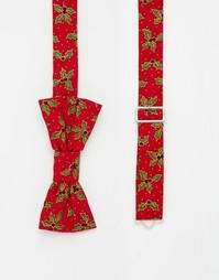 Рождественский галстук-бабочка Reclaimed Vintage - Красный