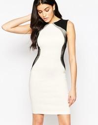 Облегающее платье с контрастными вставками по бокам Vesper Crystal