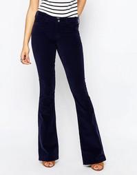 Узкие джинсы с клешем MiH Marrakesh - Темно-синий