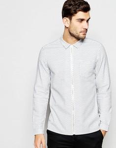Рубашка в горошек на молнии с длинными рукавами ASOS