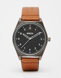 Часы с коричневым кожаным ремешком Breda Shepherd - Коричневый